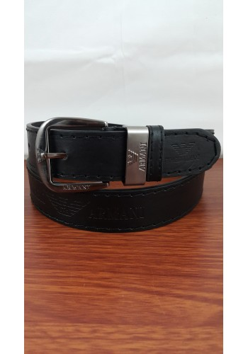 1055 - 03  Мъжки колан от висококачествена еко кожа в черно универсален