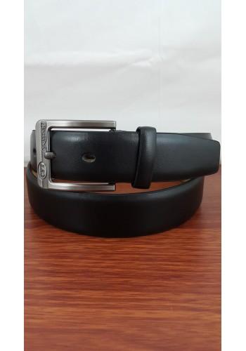 1055 - 05  Мъжки колан от висококачествена еко кожа в черно универсален