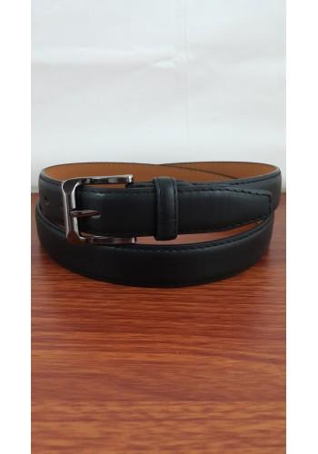 1055 - 04  Мъжки колан от висококачествена еко кожа в черно класически за панталон
