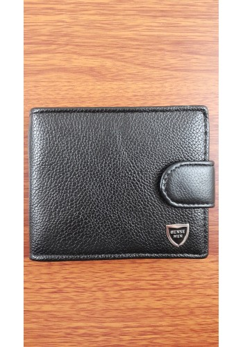 SA 1  Мъжки портфейл от еко кожа в черно класически