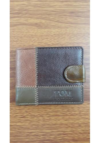 SB 2220  Мъжки портфейл от еко плюс естествена кожа в мулти колор - класически