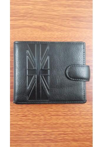 SB 208  Мъжки портфейл от еко кожа в черно класически