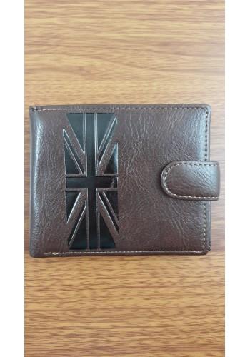 SB 208  Мъжки портфейл от еко кожа в кафяво класически