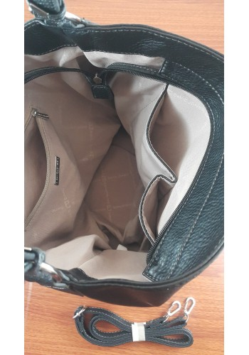 CM 3254 Дамска чанта DAVID JONES от висококачествена еко кожа тип торба в черно