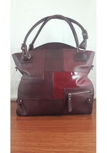 S 9017 Дамска чанта от висококачествена еко кожа в БОРДО