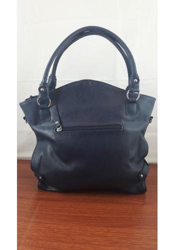 S 9017 Дамска чанта от висококачествена еко кожа  в  ТЪМНО СИНЬО