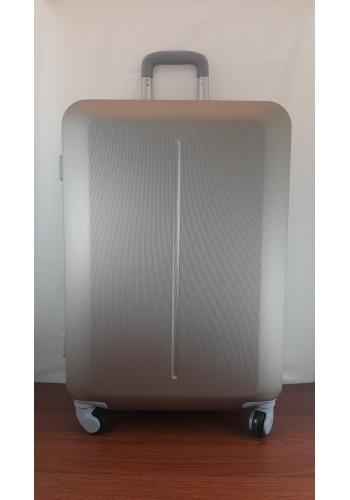 """S 203752 Куфар от PVC полимер - среден """"M"""" размер на 4 колела в цвят  ЗЛАТИСТО - ШАМПАНСКО 66/44/27 см."""