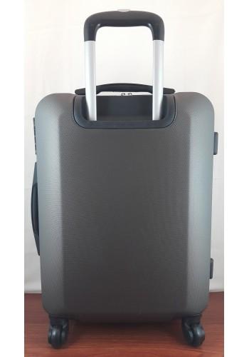 """S 203752 Куфар от  PVC полимер - голям """"L"""" размер на 4 колела в цвят ГРАФИТ 76/50/31 см"""