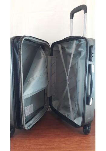 """S 203752 Куфар от PVC полимер - малък """"S"""" размер на 4 колела в цвят ГРАФИТ 55/37/22 см"""