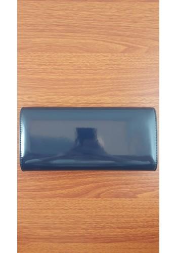 S 10549 Вечерна дамска чанта тип клъч / плик - официална в тъмно син лак