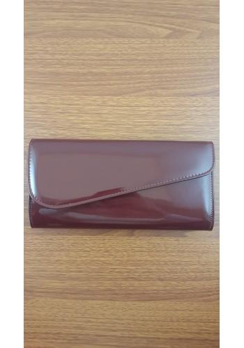 S 10549 Вечерна дамска чанта тип клъч / плик - официална в бордо лак
