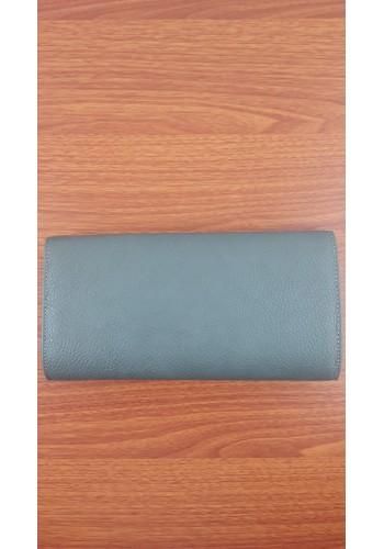S 10549 Вечерна дамска чанта тип клъч / плик от висококачествена еко кожа в сиво