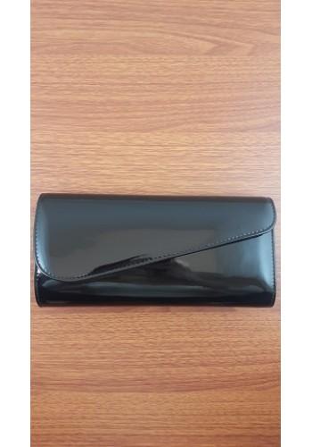 S 10549 Вечерна дамска чанта тип клъч / плик - черен лак