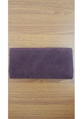 S 10549 Вечерна дамска чанта тип клъч / плик - официална в бордо велур