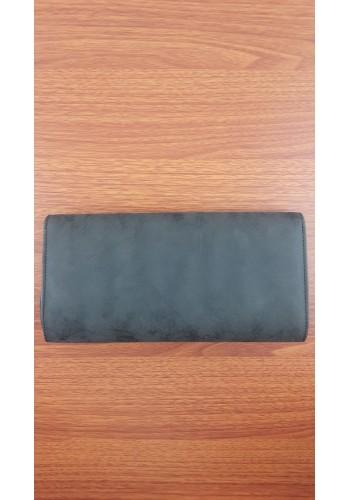 S 10549 Вечерна дамска чанта тип клъч / плик - официална черен мат