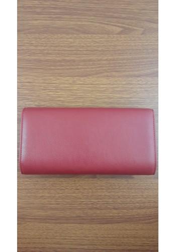 S 10549 Вечерна дамска чанта тип клъч / плик от висококачествена еко кожа - официална в червено
