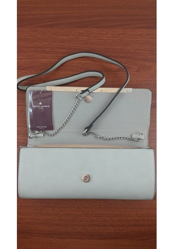 СМ 2636  Ежедневна дамска чанта DAVID JONES  - в цвят CREAMY GREY - сиво
