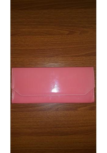 S 10549-2 Вечерна официална  дамска чанта в млечно розов лак