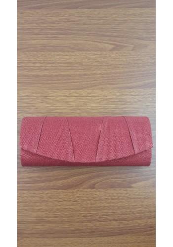 S 10548 Официална вечерна дамска чанта в червено ламе