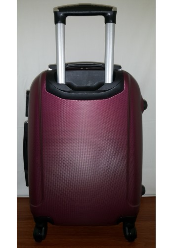 """S 203754-1 Голям твърд куфар от PVC полимер - """"L"""" размер на 4 колела в цвят ВИШНА 76/48/30 см"""