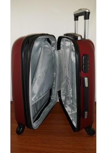 """S 203754 Куфар от PVC полимер - голям """"L"""" размер на 4 колела в цвят БОРДО 76/48/30 см"""