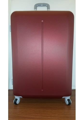 """S 203752 Куфар от PVC полимер - голям """"L"""" размер на 4 колела в цвят БОРДО 76/50/31 см"""