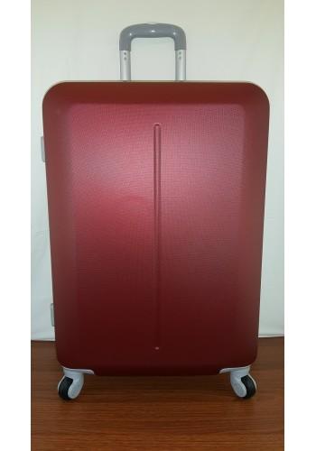 """S 203752 Куфар от PVC полимер - среден """"М"""" размер на 4 колела в цвят БОРДО 66/44/27 см"""