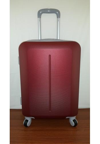 """S 203752 Куфар от PVC полимер - малък """"S"""" размер на 4 колела в цвят БОРДО 55/37/22 см"""