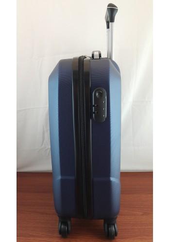 """S 908067 Малък куфар за ръчен багаж от PVC - """"S"""" размер на 4 колела в ТЪМНО СИНЬО 55/40/20 см"""