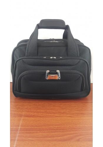 S 10002 Авиочанта за ръчен багаж от импрегниран текстил в черно 45/30/25 см
