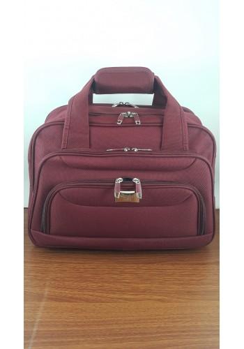 S 10002 Авиочанта за ръчен багаж от импрегниран текстил в бордо 45/30/25 см