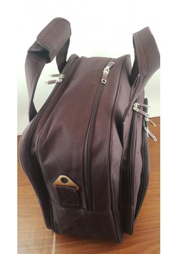 S 10002 Авиочанта за ръчен багаж от импрегниран текстил в цвят вишна 45/30/25 см