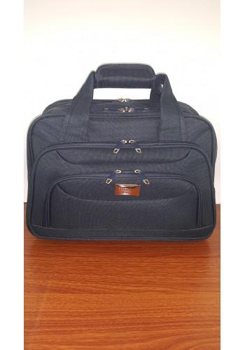 S 10002 Авиочанта за ръчен багаж от импрегниран текстил в синьо 45/30/25 см