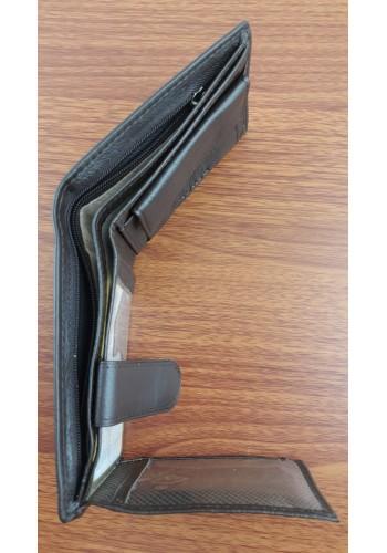 S 029  Мъжки портфейл Horse от естествена телешка кожа в тъмно кафяво с много отделения