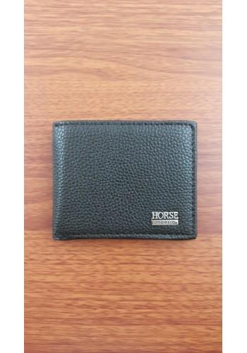 S 056 Малко мъжко портмоне от еко кожа в черно с монетник