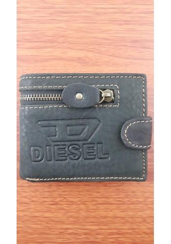 S 805-3  Мъжки портфейл от естествена телешка кожа в черно с декоративен шев