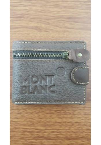 S 805-4  Мъжки портфейл от естествена телешка кожа в кафяво с декоративен шев