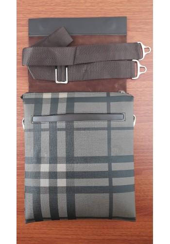 SL 1988-2 Мъжка чанта от естествена кожа за през рамо в тъмно кафяво топ модел