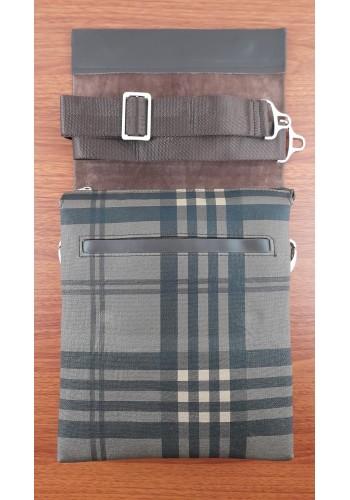 SL 1988-1 Мъжка чанта от естествена кожа за през рамо в тъмно кафяво топ модел