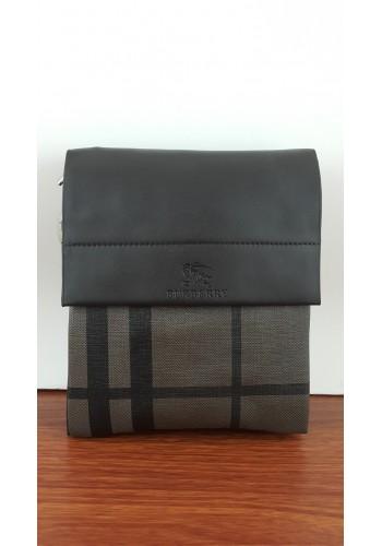 SL 1988-0 Мъжка чанта от естествена кожа за през рамо в тъмно кафяво топ модел