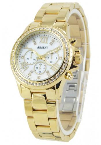 2051-1  Дамски часовник  AKSEPT  с метална верижка