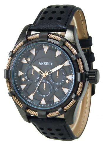 2090-1 Мъжки часовник AKSEPT с кожена каишка