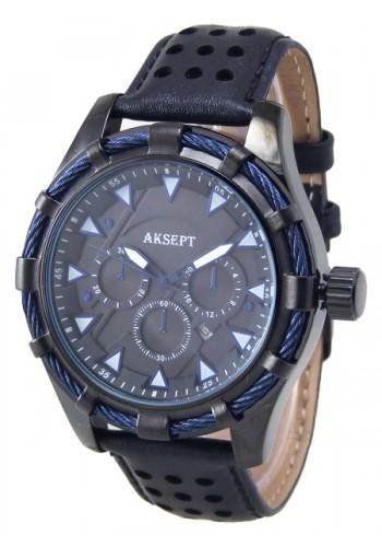 2090-2 Мъжки часовник AKSEPT с кожена каишка