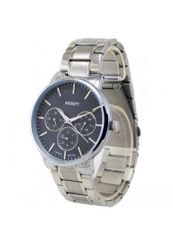 2113-2  Мъжки часовник  AKSEPT  с метална верижка