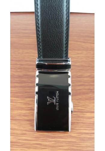 1030-08  Мъжки колан от естествена кожа в черно - автоматичен