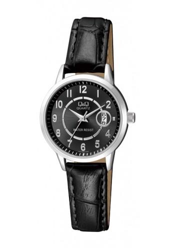 A457J305Y Дамски часовник Q&Q с кожена каишка
