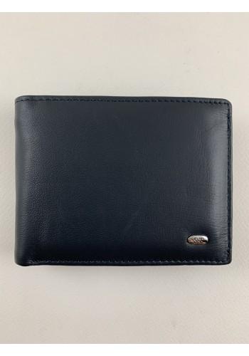 SM 8  Мъжки портфейл от естествена телешка кожа в синьо с много отделения - LUX