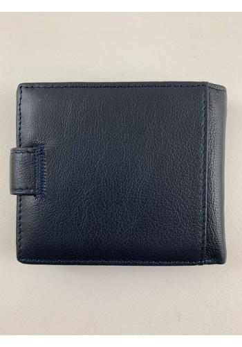 SA 1059  Мъжки портфейл от естествена телешка кожа в синьо с много отделения