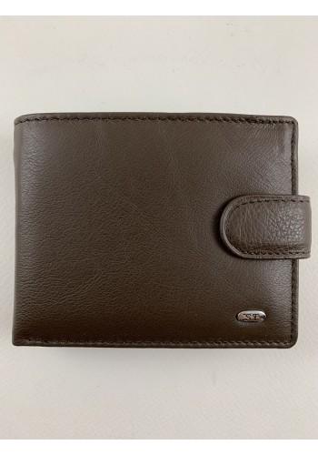 S 61642-876  Мъжки портфейл с изваждащ се органайзер за карти и документи от естествена кожа в кафяво
