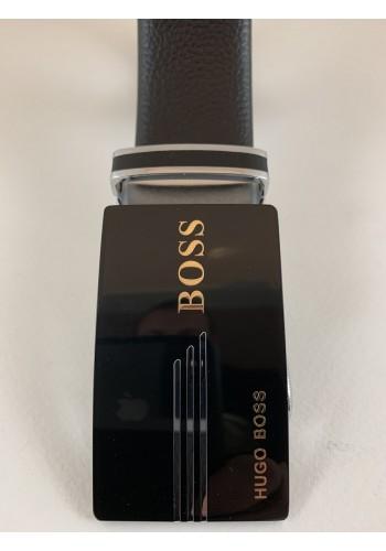 1030-06  Мъжки колан от естествена кожа в черно - автоматичен